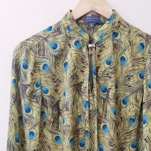 The Limited Collection - Peacock Print Blouse